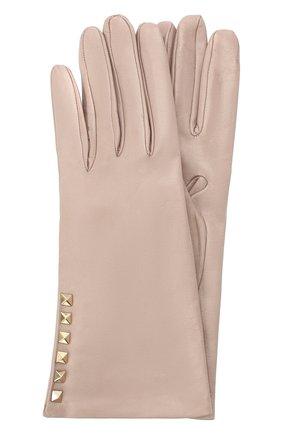Женские кожаные перчатки VALENTINO бежевого цвета, арт. UW2GDA16/NAP | Фото 1