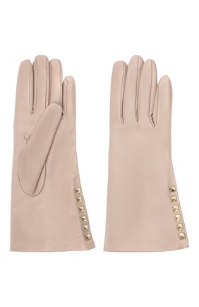 Женские кожаные перчатки VALENTINO бежевого цвета, арт. UW2GDA16/NAP | Фото 2