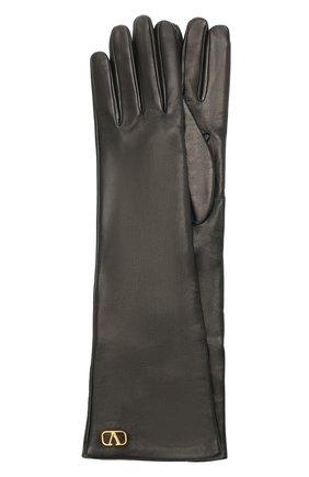 Женские кожаные перчатки VALENTINO черного цвета, арт. UW2GCA14/WJW | Фото 1