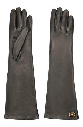 Женские кожаные перчатки VALENTINO черного цвета, арт. UW2GCA14/WJW | Фото 2
