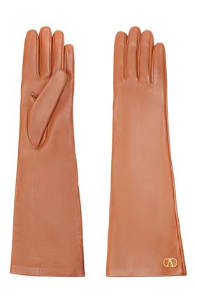 Женские кожаные перчатки VALENTINO коричневого цвета, арт. UW2GCA14/WJW | Фото 2