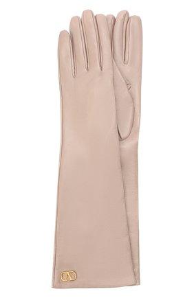 Женские кожаные перчатки VALENTINO бежевого цвета, арт. UW2GCA14/WJW | Фото 1