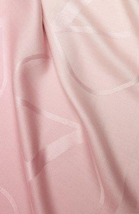 Женская шаль из шелка и шерсти VALENTINO бордового цвета, арт. UW2EB104/ZVG | Фото 2 (Материал: Текстиль, Шерсть)