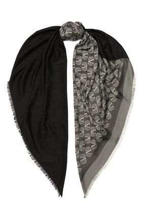 Женская шаль из шелка и шерсти VALENTINO черного цвета, арт. UW2EB104/REG | Фото 1