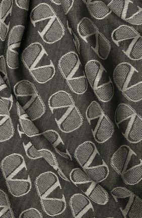 Женская шаль из шелка и шерсти VALENTINO черного цвета, арт. UW2EB104/REG | Фото 2