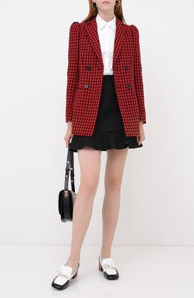 Женская юбка REDVALENTINO черного цвета, арт. UR3RAE85/1Y1 | Фото 2