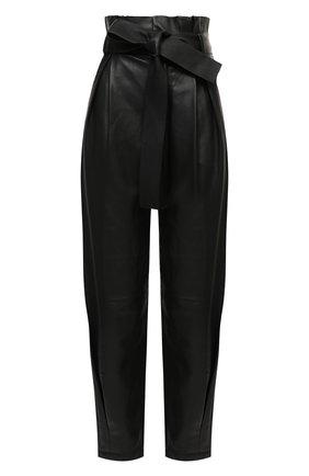 Женские кожаные брюки REDVALENTINO черного цвета, арт. UR3NF00G/5BW | Фото 1
