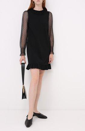 Женское платье REDVALENTINO черного цвета, арт. UR3MJ04X/5C7 | Фото 2