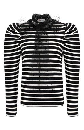 Женская хлопковый пуловер REDVALENTINO черного цвета, арт. UR3MG06M/5C1 | Фото 1