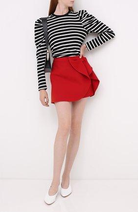 Женская хлопковый пуловер REDVALENTINO черного цвета, арт. UR3MG06M/5C1 | Фото 2
