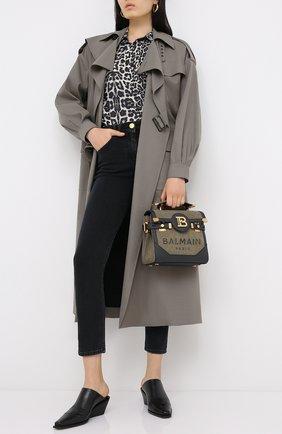 Женские джинсы BALMAIN темно-серого цвета, арт. UF15515/D062 | Фото 2