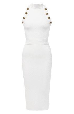 Женское платье из вискозы BALMAIN белого цвета, арт. UF16534/K110 | Фото 1