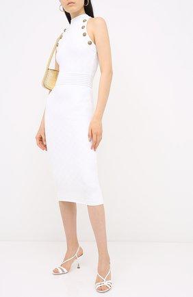 Женское платье из вискозы BALMAIN белого цвета, арт. UF16534/K110   Фото 2