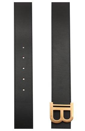 Женский кожаный ремень BALMAIN черного цвета, арт. UN1A002/LMJC | Фото 2