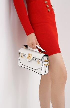 Женская сумка bbuzz 26 BALMAIN белого цвета, арт. UN1S527/LMJC | Фото 2