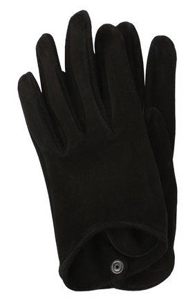 Женские кожаные перчатки GIORGIO ARMANI черного цвета, арт. 794217/0A221 | Фото 1