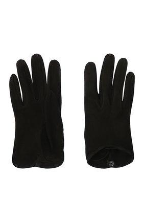 Женские кожаные перчатки GIORGIO ARMANI черного цвета, арт. 794217/0A221 | Фото 2