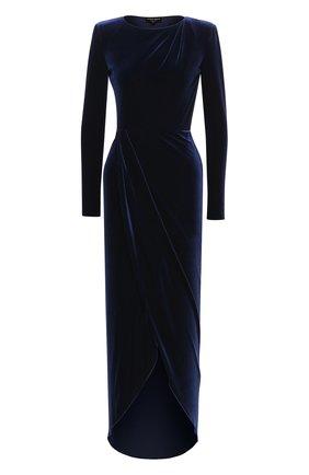 Женское платье-макси GIORGIO ARMANI синего цвета, арт. 6HAA70/AJW4Z | Фото 1