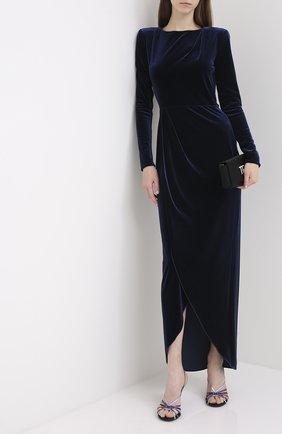 Женское платье-макси GIORGIO ARMANI синего цвета, арт. 6HAA70/AJW4Z | Фото 2