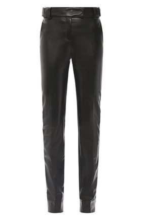 Женские кожаные брюки TOM FORD черного цвета, арт. PAL702-LEX228 | Фото 1
