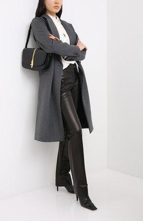 Женские кожаные брюки TOM FORD черного цвета, арт. PAL702-LEX228 | Фото 2