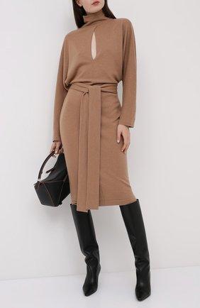Женское кашемировое платье TOM FORD бежевого цвета, арт. ACK241-YAX226 | Фото 2