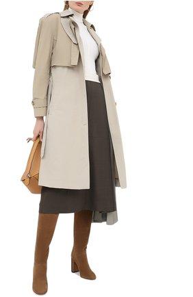 Женские замшевые сапоги jeanne LORO PIANA коричневого цвета, арт. FAI2296 | Фото 2
