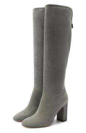 Женские замшевые сапоги jeanne LORO PIANA серого цвета, арт. FAI2296 | Фото 1