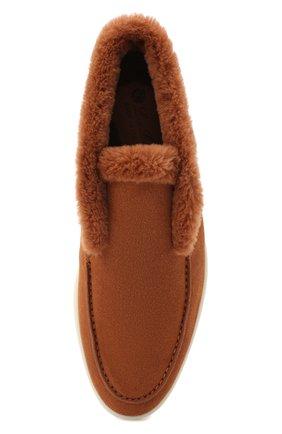 Женские замшевые ботинки LORO PIANA коричневого цвета, арт. FAG3602   Фото 5