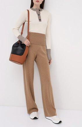 Женские кашемировые брюки LORO PIANA бежевого цвета, арт. FAL2020 | Фото 2