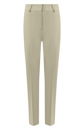 Женские хлопковые брюки LORO PIANA зеленого цвета, арт. FAL3050 | Фото 1