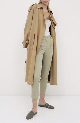 Женские хлопковые брюки LORO PIANA зеленого цвета, арт. FAL3050 | Фото 2