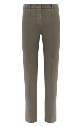 Женские хлопковые брюки LORO PIANA хаки цвета, арт. FAL3258 | Фото 1