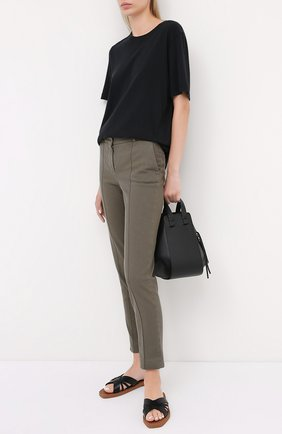 Женские хлопковые брюки LORO PIANA хаки цвета, арт. FAL3258 | Фото 2