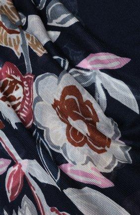 Женская шаль из кашемира и шелка LORO PIANA синего цвета, арт. FAL3539 | Фото 2
