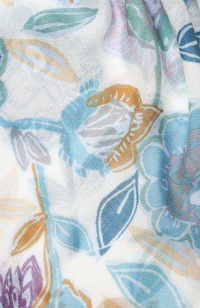 Женская шаль из кашемира и шелка LORO PIANA голубого цвета, арт. FAL3539 | Фото 2