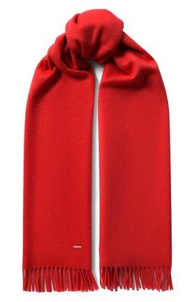 Женский кашемировый шарф grande unita LORO PIANA красного цвета, арт. FAA1056 | Фото 1 (Материал: Кашемир, Шерсть)