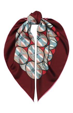 Женский шелковый платок chrysler twill LORO PIANA бордового цвета, арт. FAL2771 | Фото 1