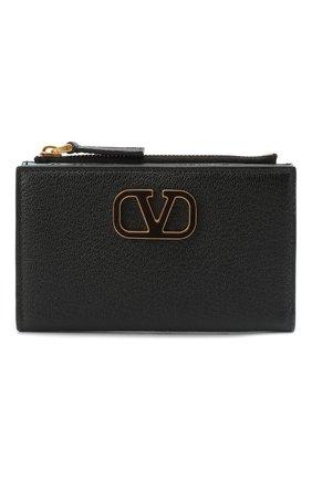 Женские кожаный кошелек valentino garavani VALENTINO черного цвета, арт. UW2P0T46/ACY | Фото 1