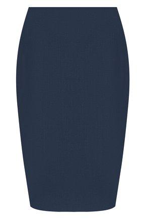 Женская юбка BOSS темно-синего цвета, арт. 50430497   Фото 1