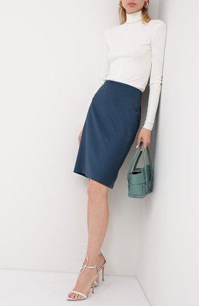 Женская юбка BOSS темно-синего цвета, арт. 50430497   Фото 2