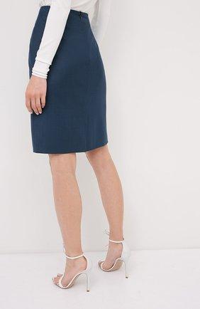 Женская юбка BOSS темно-синего цвета, арт. 50430497   Фото 4