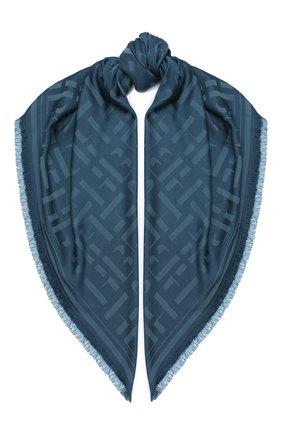 Женская шаль BOSS бирюзового цвета, арт. 50430771 | Фото 1
