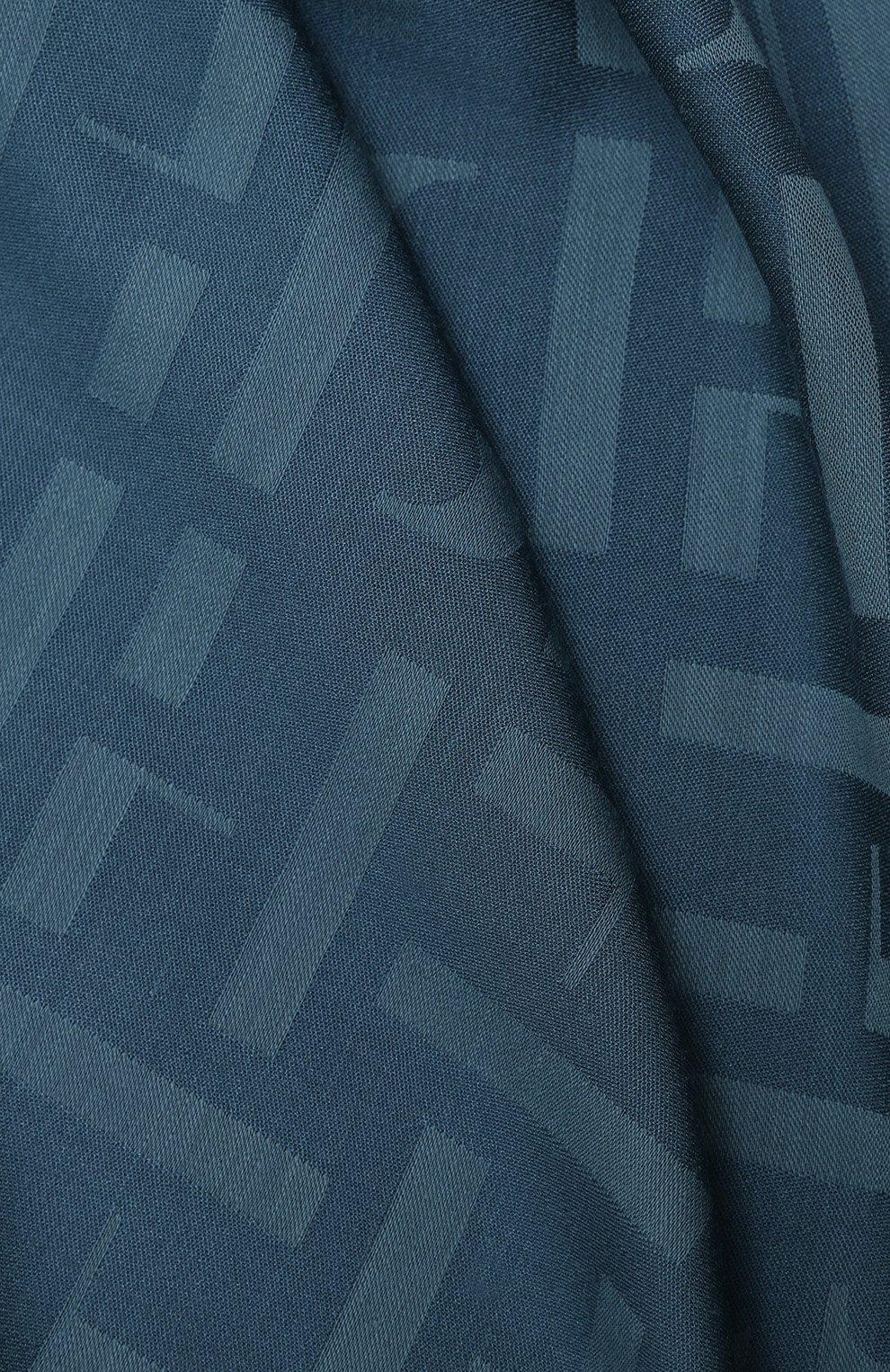 Женская шаль BOSS бирюзового цвета, арт. 50430771 | Фото 2