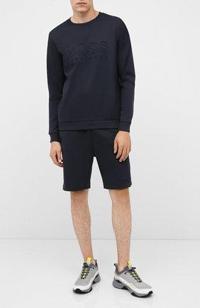 Мужские комбинированные кроссовки HUGO светло-серого цвета, арт. 50433618 | Фото 2