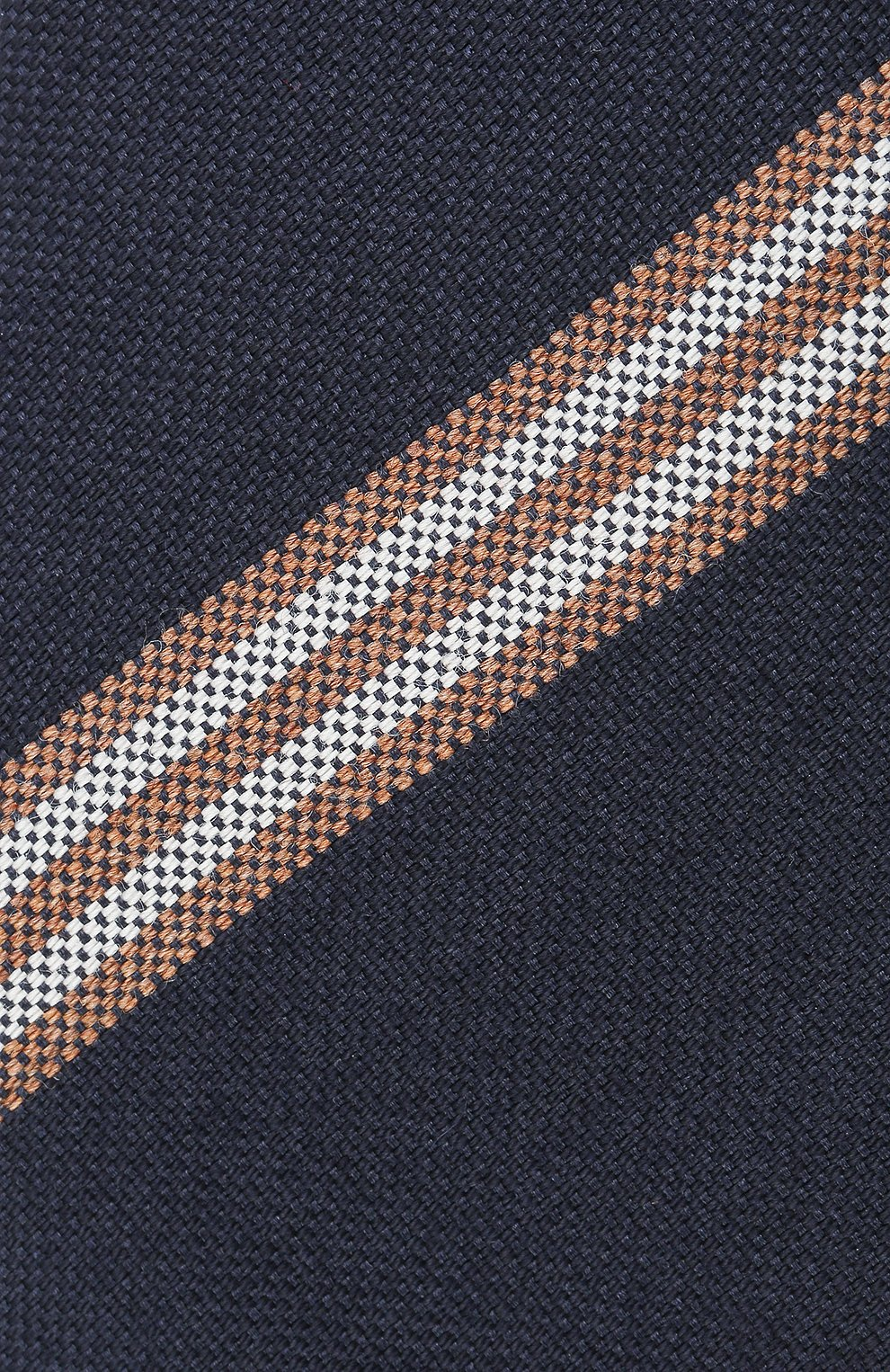 Мужской галстук из шерсти и шелка BRUNELLO CUCINELLI темно-синего цвета, арт. ML8880018 | Фото 3