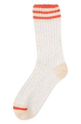 Мужские кашемировые носки BRUNELLO CUCINELLI светло-серого цвета, арт. MCS93811 | Фото 1