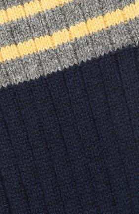 Мужские кашемировые носки BRUNELLO CUCINELLI темно-синего цвета, арт. MCS93811 | Фото 2