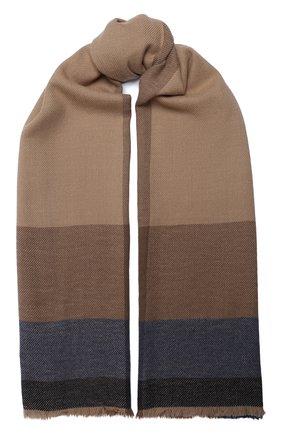 Мужской шарф из шерсти и кашемира BRUNELLO CUCINELLI темно-синего цвета, арт. MSC640AG | Фото 1