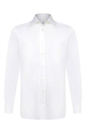 Мужская хлопковая сорочка ZILLI белого цвета, арт. MFU-10715-0299/0007 | Фото 1